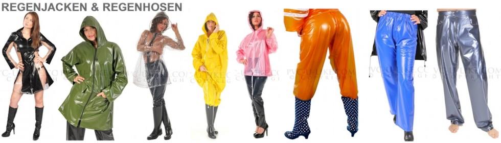 Regenjacken und Regenhosen