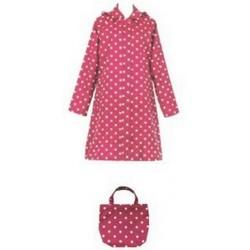Regenmantel Kurzmantel 3/4-Mantel Damen pink-rot gepunktet Nylon/Teflon 13CYC1031 - LAGERWARE