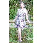 Plastik - Mantel Regenjacke Damen EVA Fashion Type M glasklar transparent Rand: schwarz