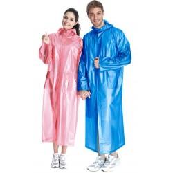 PVC Plastik - M052 Mantel Regenmantel Plastikregenmantel 3/4-Länge unisex - LAGERWARE