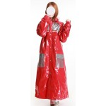 Plastik - Mantel Multifunktions-Regenmantel BLUE EYED GENIUS rot