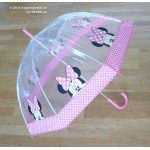 PM PVC - Regenschirm PM1314 Mini Mouse Pink Rosa glasklar EDGE-UMBRELLA LAGERWARE