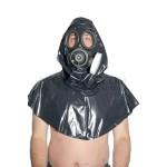 PUL PVC - Kapuze mit Gasmaske HO04 GAS MASK HOOD