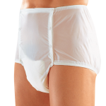 Suprima 1201 - PVC - Gummihose knöpfbar Inkontinenzschutzhose Windelhose weiß