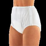 Suprima 1222 - PVC/PE - Gummihose Inkontinenzschutzhose Windelhose knöpfbar Schwedenform weiß