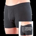 Suprima 1254 - Short bodyguard light, mit integrierter Saugeinlage und angeschnittenem Bein, schwarz