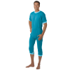 Suprima 4702 - Pflegeoverall Baumwolle/Polyester, kurz, Rücken-RV, Bein-RV