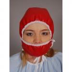 ORIGINAL G - Haube mit Mundschutz OP-Haube Krankenschwester Plastik Regenhaube Mütze - DANIEL